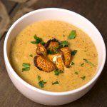 Грибний суп з лисичок