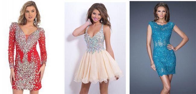 Короткі сукні на випускний: огляд наймодніших моделей 2015