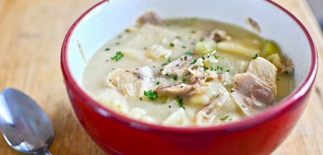 курячий суп з галушками - рецепт з фото