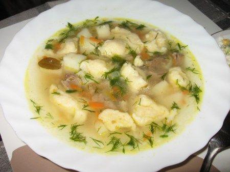суп з галушками рецепт відео