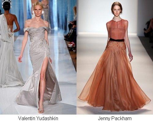 Модні довгі сукні
