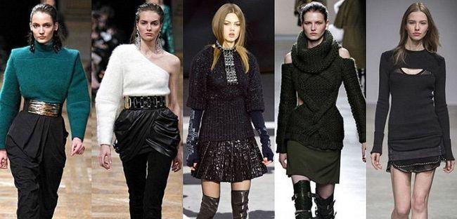 Модні жіночі светри, осінь-зима 2015-2016: фото наймодніших в'язаних светрів 2016