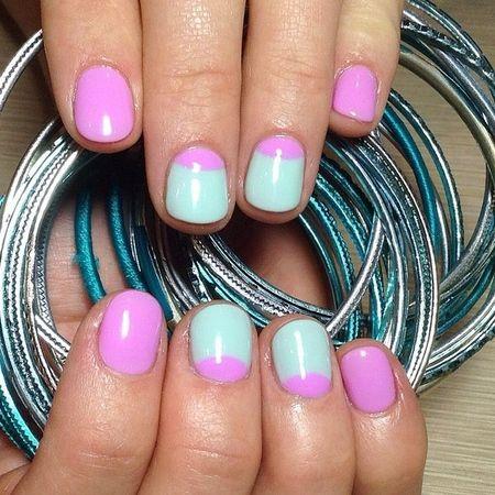 Стильний і свіжий манікюр +2015: нігті м'ятного кольору, фото