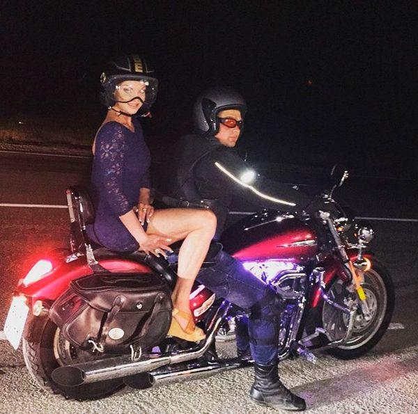 Волочкова на мотоциклі